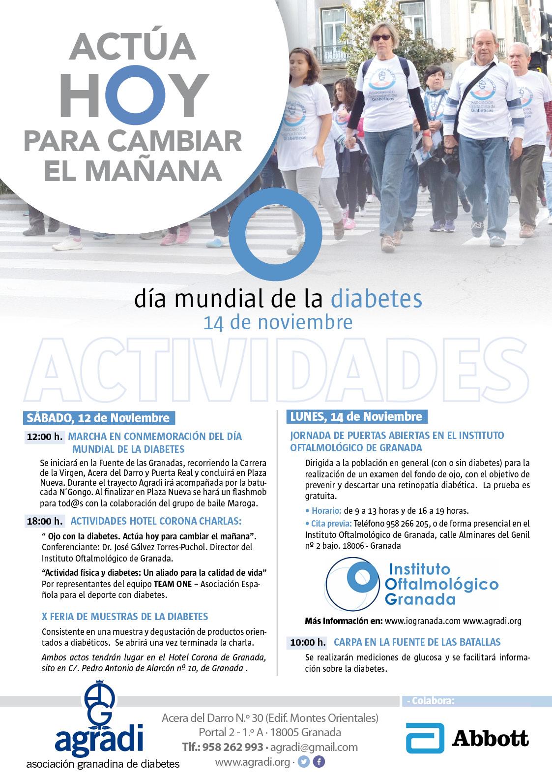 Cartel día mundial de la diabetes Granada 2016