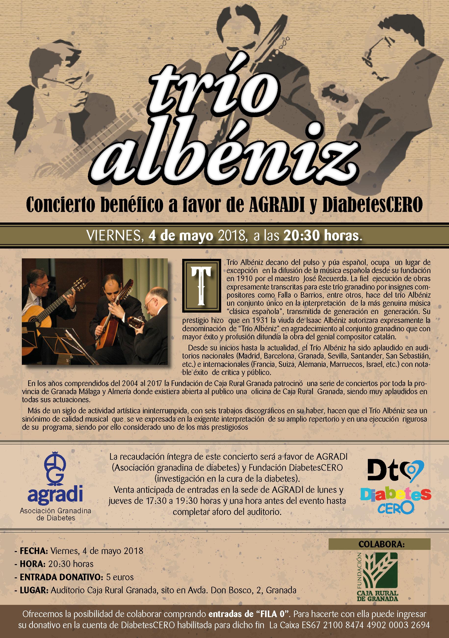 Concierto a cargo del Trío Albéniz – Viernes 4 de mayo