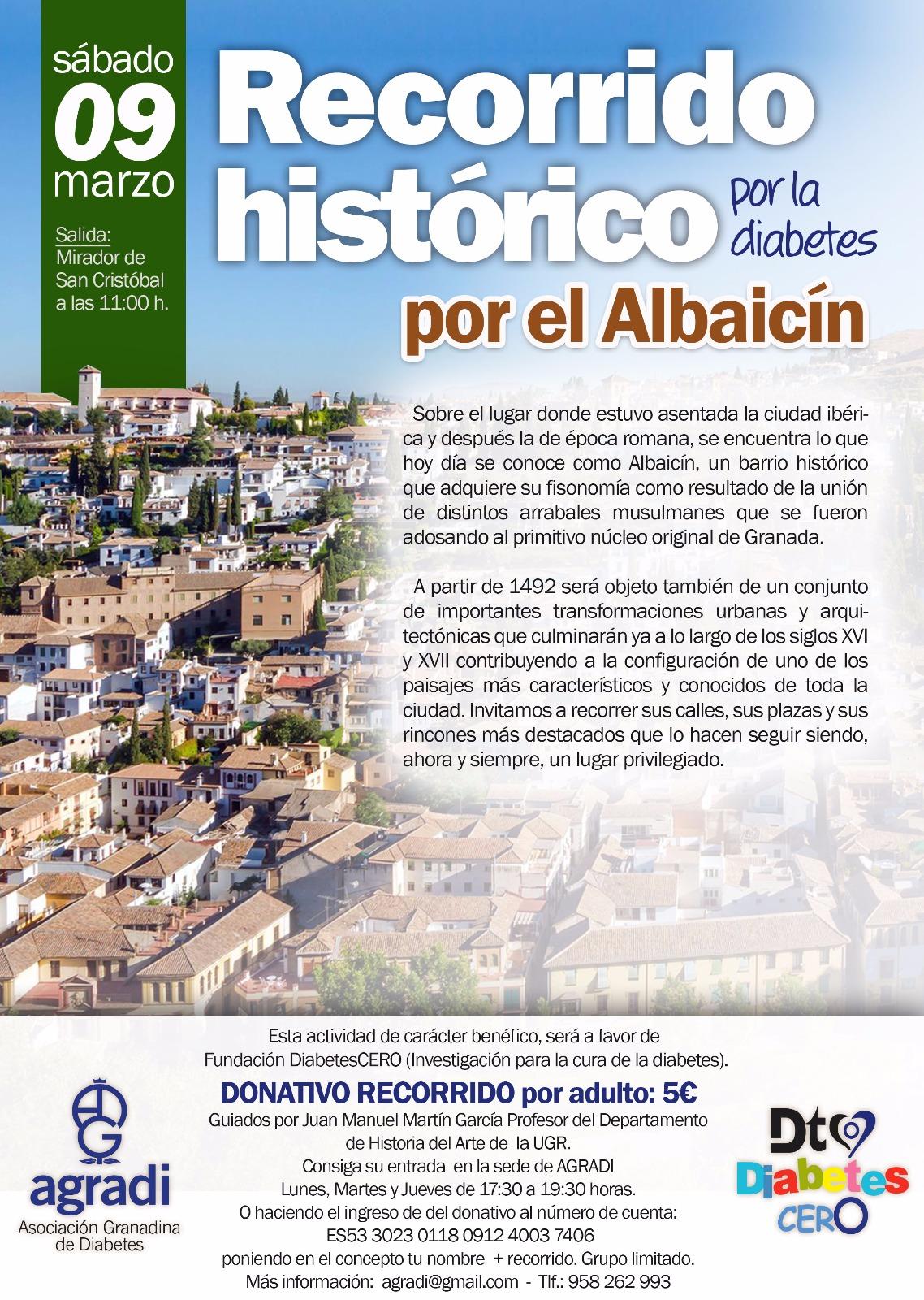 Recorrido histórico por el Albaicín 9/3/2019